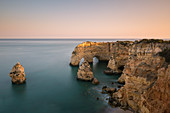Praia de Marinha, Algarve in Portugal at sunset