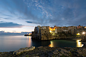 Polignano a Mare in Apulia, Italy to the sunrise