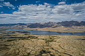 Lake Zorkul, border Afghanistan and Tajikistan, Asia