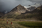 Kyrgyz women in the Pamir, Afghanistan, Asia
