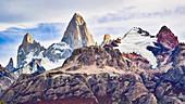 Berge, Berg Fitz Roy, Patagonia, Chile