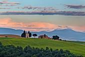 Vitaleta-Kirche, San Quirico d'Orcia, Val d'Orcia, UNESCO-Welterbestätte, Toskana, Italien, Europa