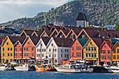Bryggen, UNESCO-Welterbestätte, Bergen, Norwegen, Skandinavien, Europa