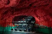 Stockholm underground station, Stockholm, Sweden, Scandinavia, Europe