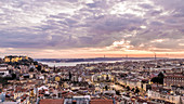 Lisbon panorama at sunset