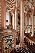 View from Empore in Sankt Annenkirche, UNESCO World Heritage Montanregion Erzgebirge, Annaberg, Saxony