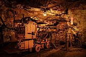 Work equipment? Unter Tage ?, Bergwerk? Markus-R? Hling-Stolln ?, UNESCO World Heritage Montanregion Erzgebirge, Frohnau, Annaberg, Saxony