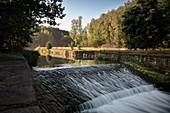 Lock at the Erzkanal, UNESCO World Heritage Montanregion Erzgebirge, Freiberg, Saxony