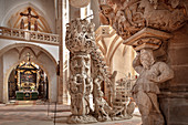 Bergmannskanzel and Tulpenkanzel in Freiberg Cathedral St Mary's, UNESCO World Heritage Montanregion Erzgebirge, Freiberg, Saxony
