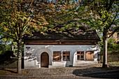 Lindenhäuschen (Miners' Residence), historic old town of Marienberg, UNESCO World Heritage Montanregion Erzgebirge, Marienberg, Saxony