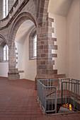 Access to Stollen in St Wolfgang's Church, Historic Old Town Schneeberg, UNESCO World Heritage Montanregion Erzgebirge, Schneeberg, Saxony