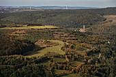 View to the shaft complex 371, UNESCO World Heritage Montanregion Erzgebirge, uranium ore mining, Saxony