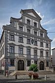 Stadtmetzg (historical building of the late renaissance), UNESCO world heritage. Historical water management, Augsburg, Bavaria, Germany
