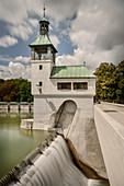 Reservoir Hochablass, UNESCO World Heritage Historical Water, Augsburg, Lech, Bavaria, Germany