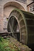 Waterwheel at the Bird Gate, UNESCO World Heritage Historic Water Management, Augsburg, Bavaria, Germany
