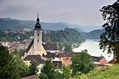 Grein on the Danube, Upper Austria, Austria