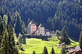 Castle near S. Cristina, Val Gardena, Dolomites, South Tyrol, Italy