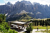at the Gardena Pass at the Jimmi Hut, Alta Badia, Dolomites, South Tyrol, Italy
