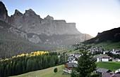 at Colfosco with Sella, Alta Badia, Dolomites, South Tyrol, Italy