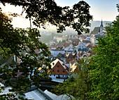 View from the castle, Krumau an der Vltava, South Bohemia, Czech Republic