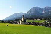 Church Holy Cross in Going am Wilden Kaiser, Tyrol, Austria