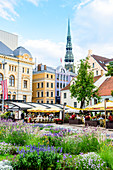 Livu Square, Old Town, UNESCO World Heritage Site, Riga, Latvia, Europe