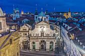 Historic building in the Clemintinium, Prague, Central Bohemia, Czech Republic