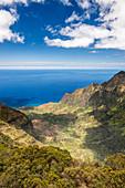 Luftaufnahme der Berge und der Küste, Hawaii, USA