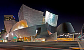 Walt Disney Concert Hall at Night,Los Angeles, California, United States
