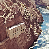 Building Built into River Valley Cliff,Hoover Dam, Nevada, United States