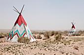 Native American Tipi Replicas,Navajo, Arizona, United States