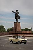 Statue von Lenin in Osch, Kirgistan, Asien