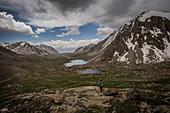 Trekking in the Alaigebirge; Kyrgyzstan, Asia