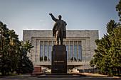 Statue of Lenin in Bishkek, Kyrgyzstan, Asia