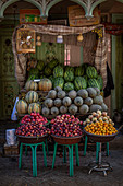 Fruit stall in the bazaar of Kashgar, China; Asia
