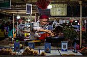 Night market in Kashgar, China, Asia