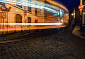 Light trail of the traditional Remodelado in Lisbon, Portugal