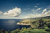Küstenlandschaft auf den Azoren, Sao Miguel, Azoren, Portugal, Atlantik, Atlantischer Ozean, Europa