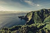 Bucht auf der Insel Flores, Azoren, Portugal, Atlantik, Atlantischer Ozean, Europa,
