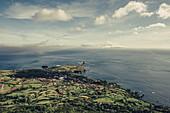 Bucht auf der Insel Flores, Azoren, Portugal, Atlantik, Atlantischer Ozean, Europa,\\n\\n