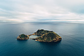 Lonely island off the coast of Sao Miguel, Sao Miguel, Azores, Portugal, Atlantic Ocean, Atlantic Ocean, Europe