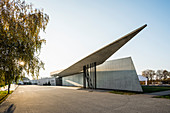 Fire station, architect Zaha Hadid, architectural park of the company Vitra, Weil am Rhein, Baden-Wurttemberg, Germany