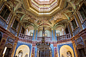Baroque interiors, Saal Sala Terrena, Schloss Favorite, Rastatt, Black Forest, Baden-Wurttemberg, Germany