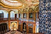 Barocke Innenräume, Saal Sala Terrena, Schloss Favorite, Rastatt, Schwarzwald, Baden-Württemberg, Deutschland