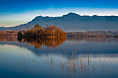 The blue land. The Staffelsee in the autumn-winter mood. Staffelsee, Bavaria, Germany