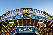View of the ferris wheel in the Olympic area for the summer festival, Munich, Bavaria, Germany