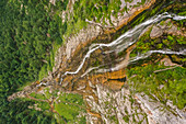 Waterfall from above, Berchtesgadener Land, Bavaria, Germany