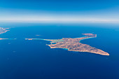 Firmentera from the air, Balearic Islands, Ibiza, Spain