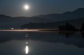 Moonrise at Bohinje Lake, Triglav National Park, Slovenia