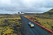 Once with Volvo and Minkcamper on the ring road around Iceland